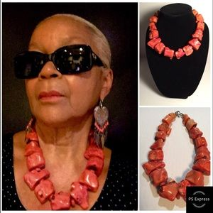 Jewelry - CORAL CHUNKY NECKLACE